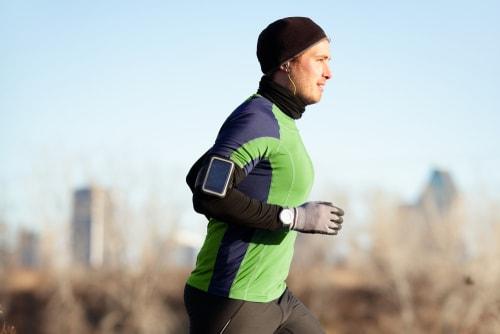 Jogger running in the morning