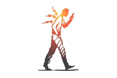 Proper walking posture - graphic