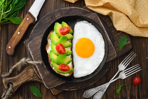 Healthy breakfast avocado toast
