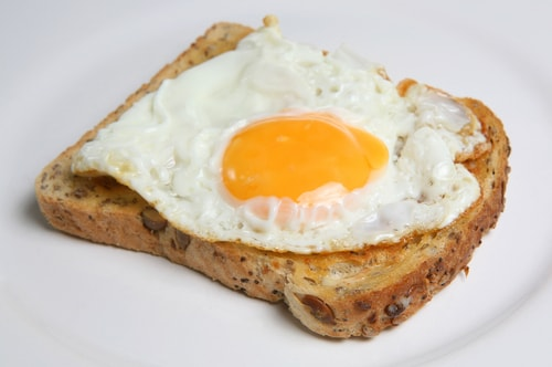 Egg on whole grain toast