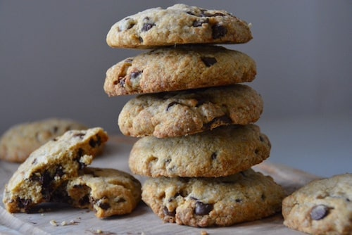 tasty chocolate chip protein cookies