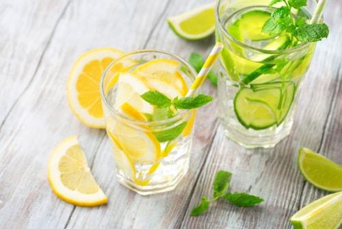 Homemade lime and lemon sodas