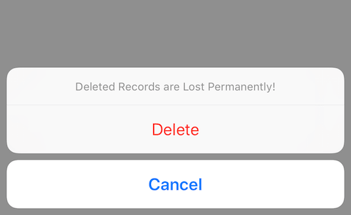 Pacer app delete activity confirmation button