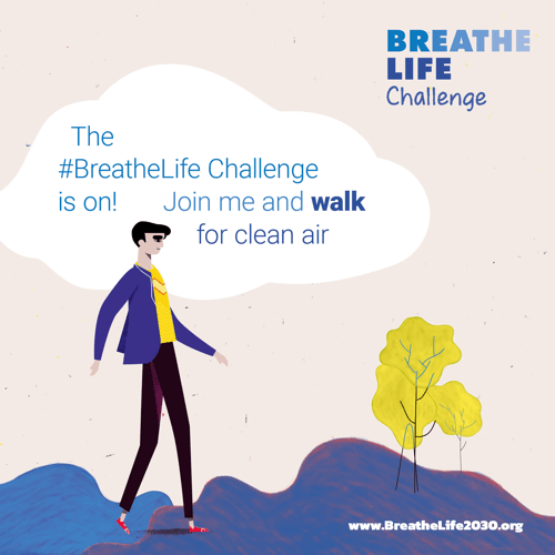 Breathelife challenge poster - join and walk concept