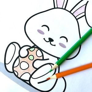 Coloriage Lapin de Pâques