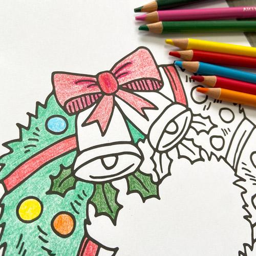 Coloriage de la couronne de Noel