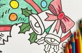 Coloriages de Noel - Couronne