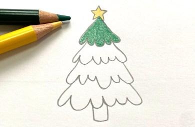 Dessin pas à pas Sapin de Noël
