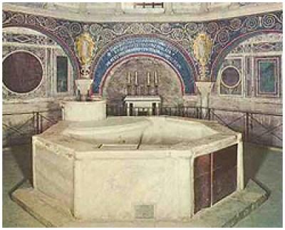 Baptistère pour le baptême par immersion