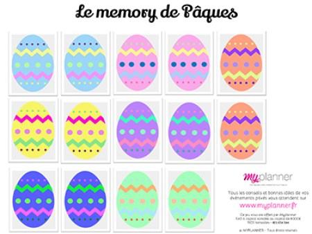 Le memory de Pâques by Myplanner