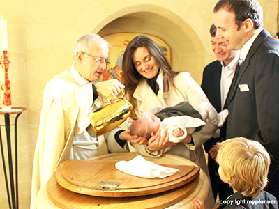 baptême à l'église