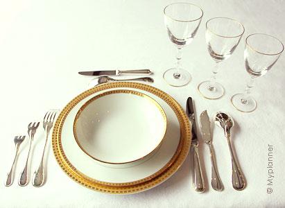 service de table à la française