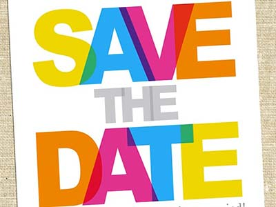 save the date multicolore