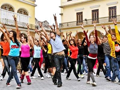 flashmob dans la rue