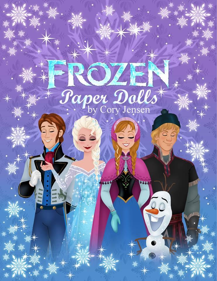 Affiche des poupées en papier Reine des neiges de Cory Jensen