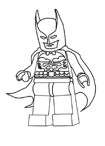 Coloriage lego batman pour un anniversaire lego