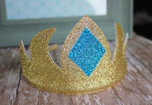 Tiare dorée du déguisement reine des neiges Elsa