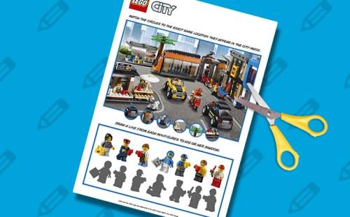 Planche de jeu Lego City à découper