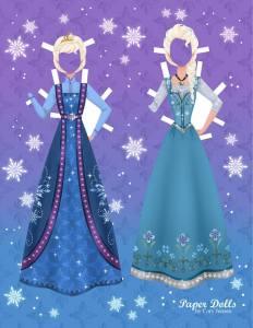 Poupée en papier d'Elsa - Cory Jensen