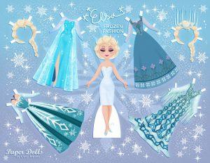Poupée en papier d'Elsa- baby collection Cory Jensen