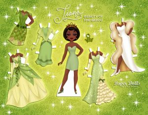 Poupée en papier de Tiana- baby collection Cory Jensen