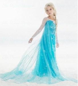 robe et sa traine cdiscount dguisement reine des neiges elsa - Robe Anna Reine Des Neiges