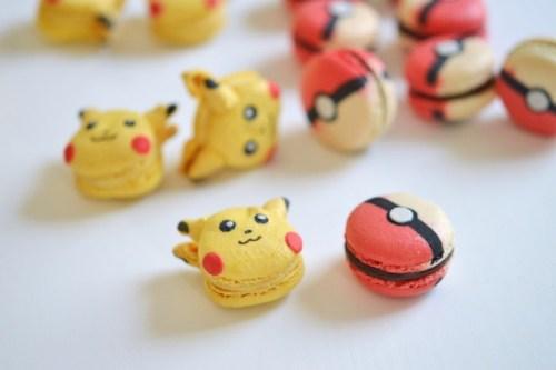 Mini macarons en forme de personnages pokemon pour un anniversaire Pokemon Go
