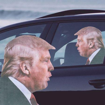 Autocollant de voiture Trump par cadeaux folies