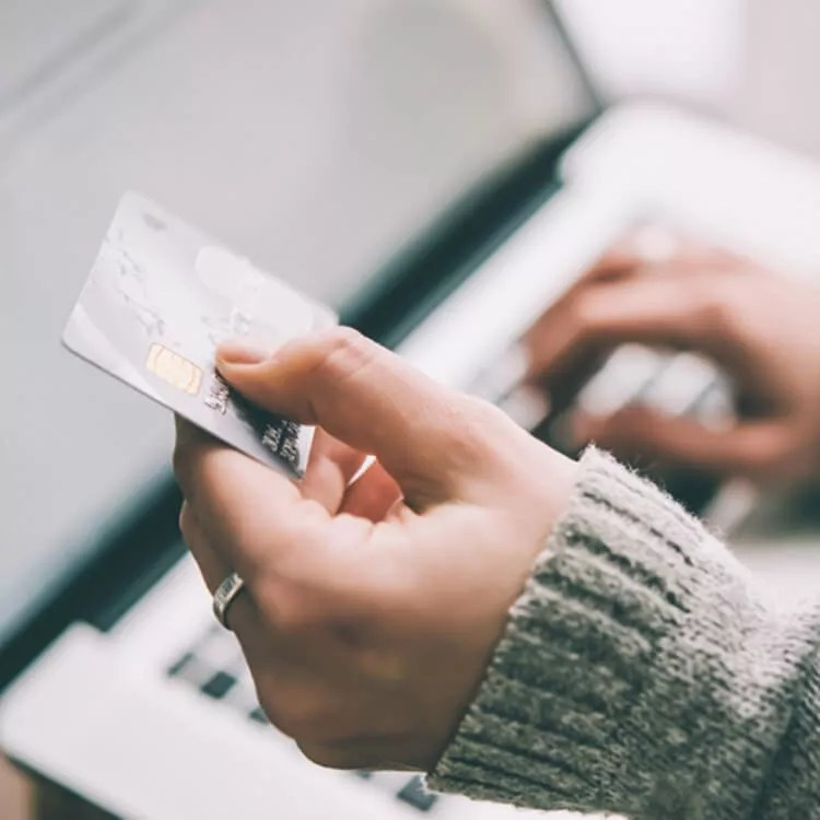Payment online with debit card