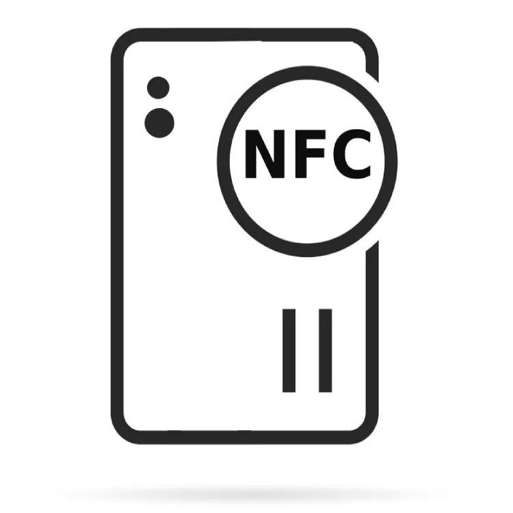 Ein Vektorbild eines handy mit NFC