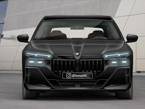 2023 BMW 7 Series rendered with M Sport Package