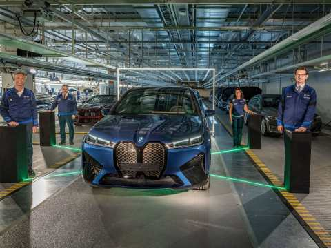 BMW iX production kicked off at Dingolfing plant today
