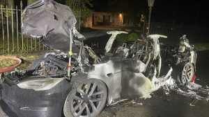 Tesla Model S Plaid caught fire while owner was driving, lawyer says