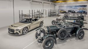 Bentley hits two milestones nearly a century apart at the same time