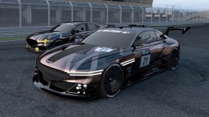 Genesis X concept and G70 imagined as race cars for 'Gran Turismo'