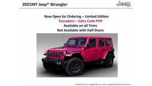 Jeep Wrangler can now be had in Tuscadero Pink
