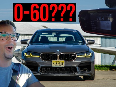 BMW M5 CS 0-60 mph and 1/4 mile times