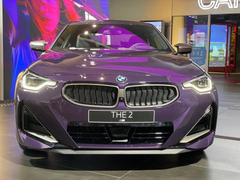 Upclose with the 2021 BMW M240i Coupe in Thundernight Metallic