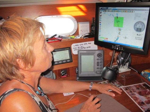 Annette planning her trip with MaxSea TimeZero