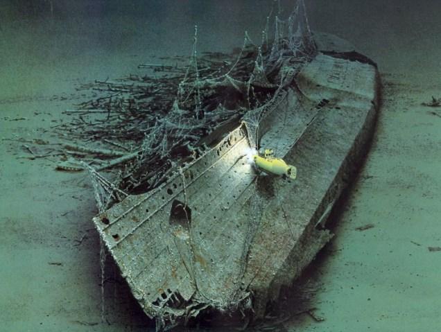Lusitania sinking - underwater image