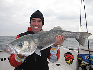 Fifth 5,2kg sea bass caught by Philippe, Area Sales Manager