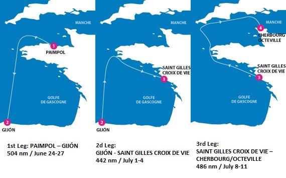 La Solitaire du Figaro race - 3 legs
