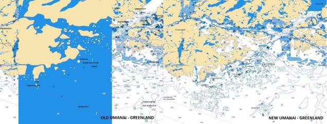 Old/New Umanai - Greenland - Navionics vector chart