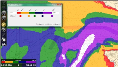 MaxSea TimeZero pro new features: depth shading