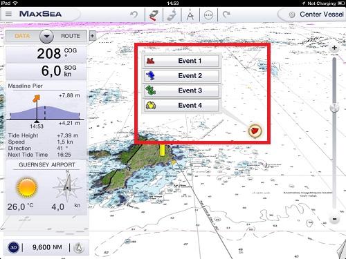 MaxSea App Event Configuration