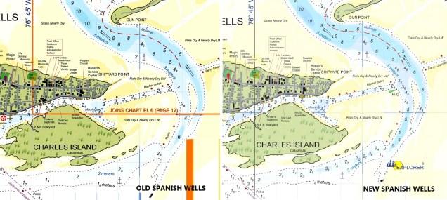 WJeppesen Bahamas Explorer Raster Chart Update - Spanish Wells