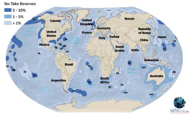 current marine reserves world map