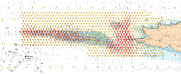 Les courants de la Pointe du Raz affichés dans TIMEZERO