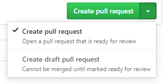 You can create a draft PR for work in progress