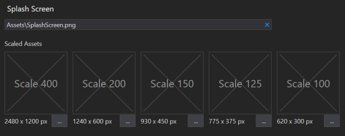 Different scales of UWP splash screen